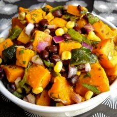 Roasted Sweetpotato Poblano Salad