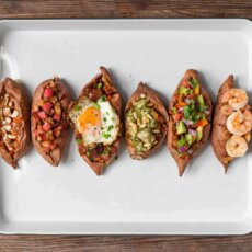 Stuffed Sweetpotatoes Six Ways