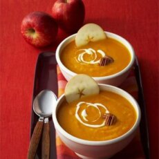 Curried Sweetpotato Apple Soup