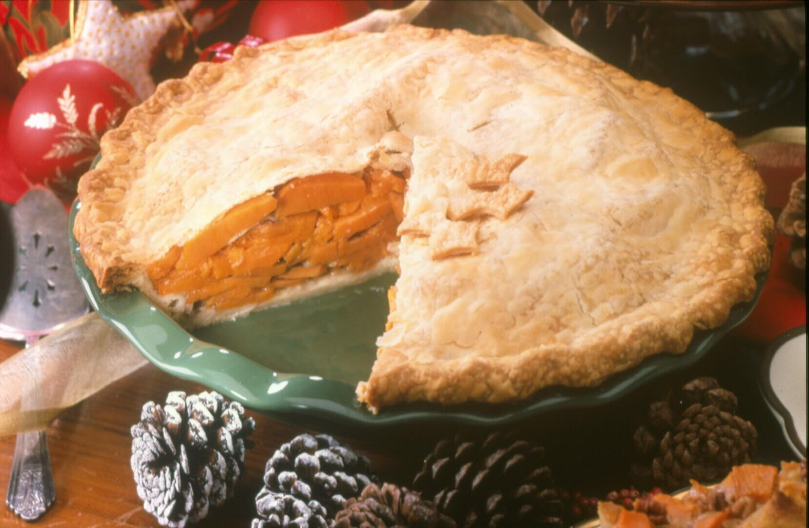 Old Fashioned Sliced Sweetpotato Pie North Carolina Sweetpotatoes
