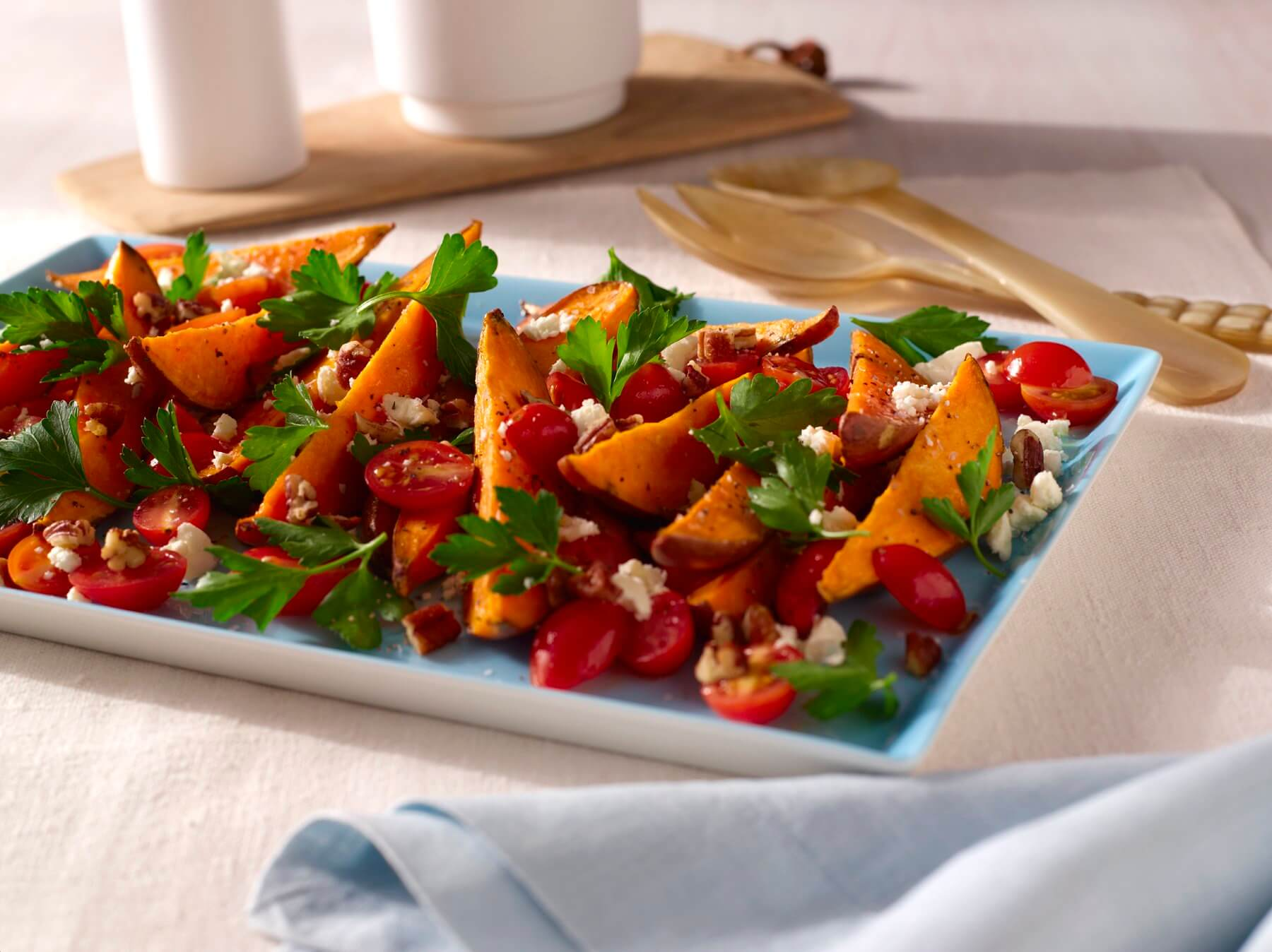 Sweet Potato Wedges with Parsley Salad