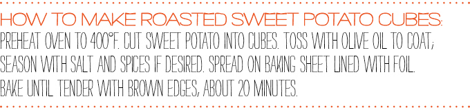 How to make roasted sweet potato cubes