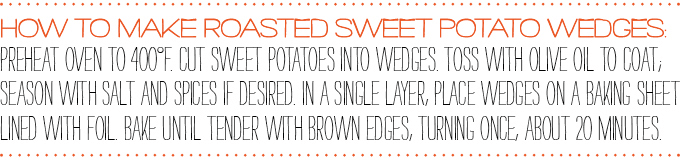 How to make roasted sweet potato wedges:
