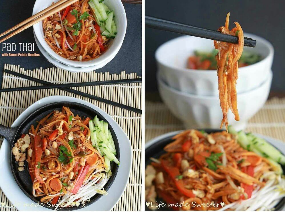 Pad-Thai-with-Sweet-Potato-Noodles-Life Made Sweeter