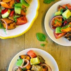 Sweetpotato Panzanella Salad