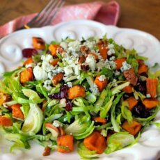 Shaved Brussel Sprout & Sweetpotato Salad