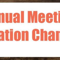 Annual Meeting Venue Change