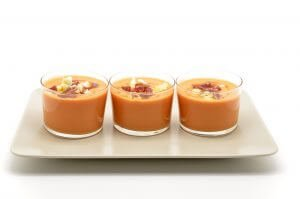 Sweet Potato and Yellow Tomato Gazpacho