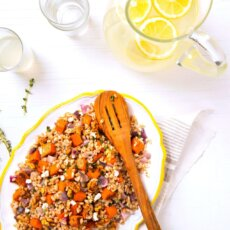 Farro & Roasted Sweetpotato Salad