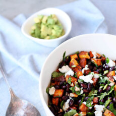 Sweetpotato & Black Bean Salad with a Toasted Cumin Citronette