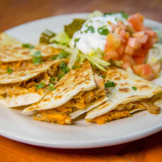 Pork-Sweetpotato Quesadillas