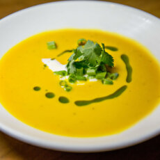 Sweetpotato Poblano Soup