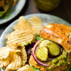Sweetpotato Burger with Avocado