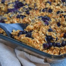 SWEETPOTATO BLUEBERRY BAKED OATMEAL