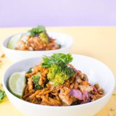 Sweetpotato Noodles with Creamy Almond Sauce