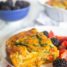 Sweetpotato Crust Quiche