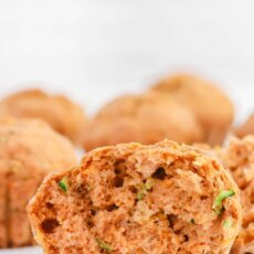 Whole Wheat Sweetpotato Zucchini Muffins