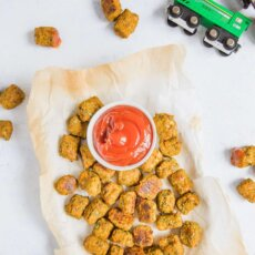 Spinach Sweetpotato Tater Tots