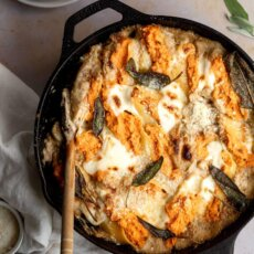 Sweetpotato Stuffed Shells with Sage Cream Sauce
