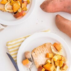 Sheet Pan Pork Chops and Sweetpotatoes